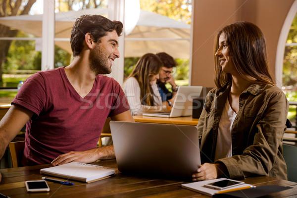 любви изучения вместе окончательный экзамены Сток-фото © iko