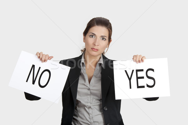 Stock photo: Yes or No choice