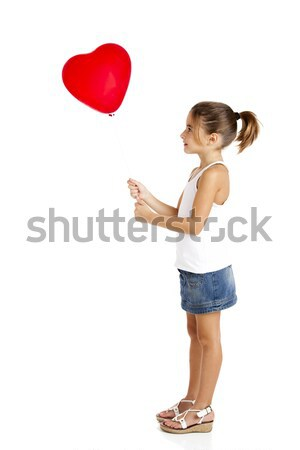Girl with a red balloon Stock photo © iko