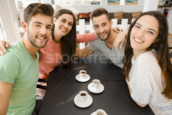 A coffee with friends Stock photo © iko