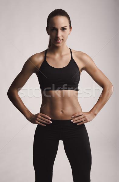 愛 身體 肖像 年輕女子 商業照片 © iko