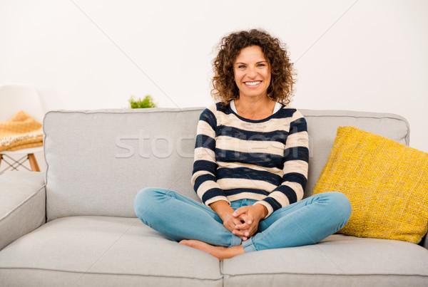 Beautiful woman at home Stock photo © iko