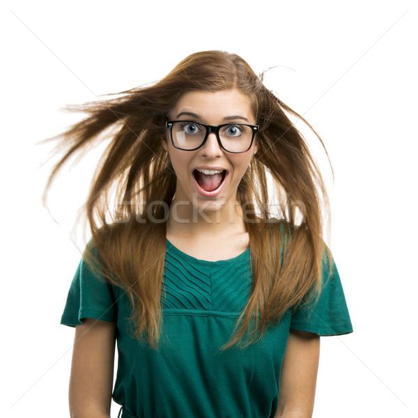 Happy Girl Stock photo © iko