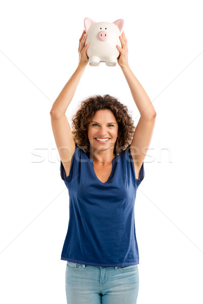 Stock photo: Happy with my investments