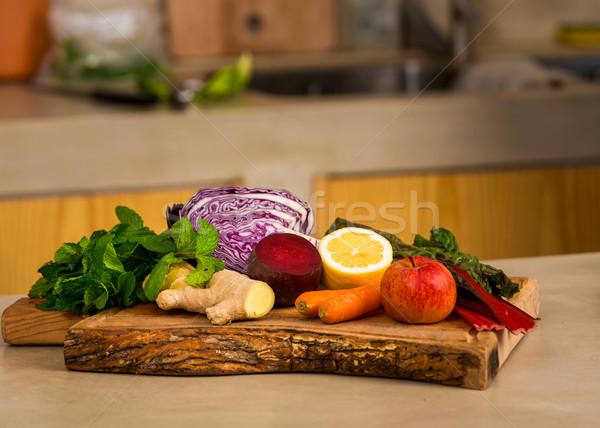 Detox food Stock photo © iko