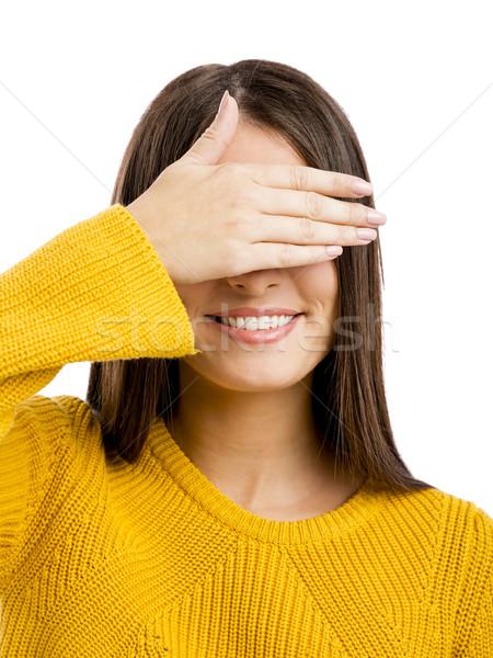Visie zin portret mooie vrouw eigen ogen Stockfoto © iko