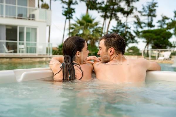 Jacuzzi luksusowe hotel wewnątrz Zdjęcia stock © iko