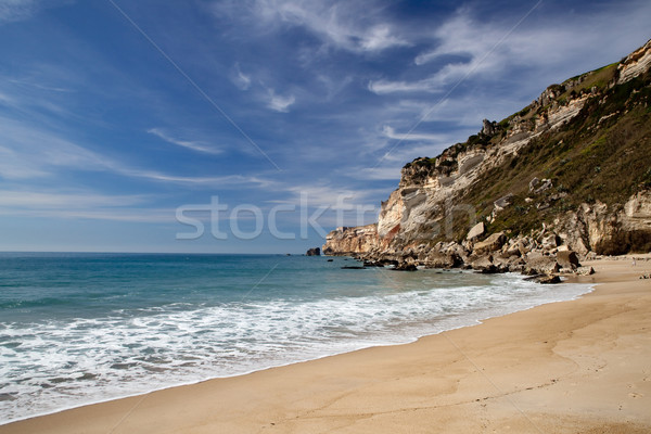 Belle plage paysage photos ciel nuages Photo stock © iko