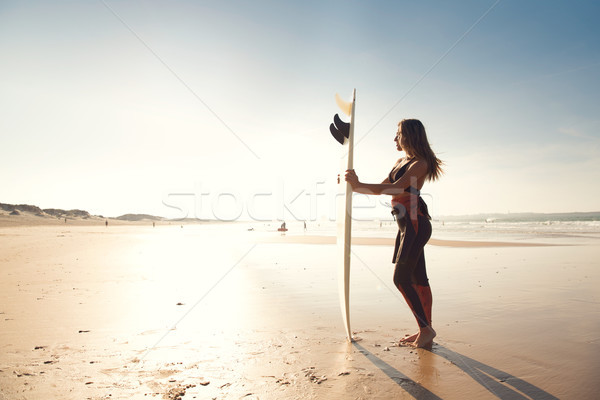 Me, the beach and my surfboard Stock photo © iko