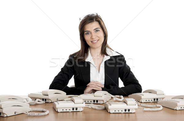 Call center work Stock photo © iko