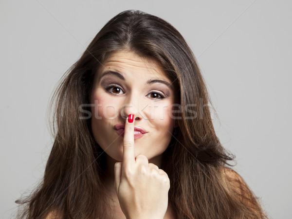 Toutch my nose Stock photo © iko