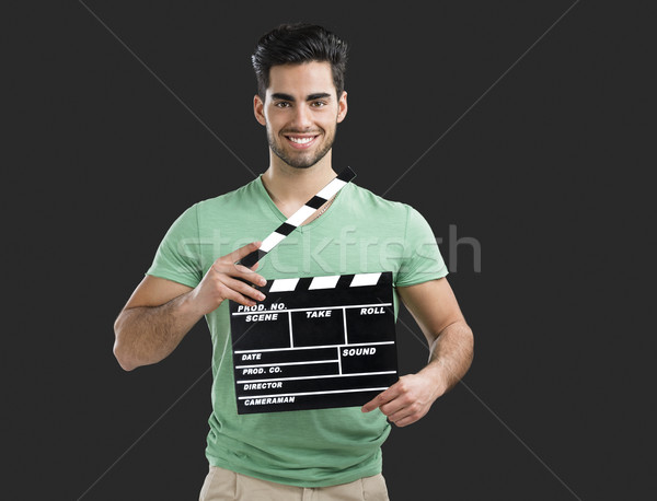 Jungen Direktor guy Porträt gut aussehend junger Mann Stock foto © iko