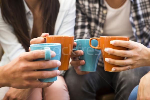 Coffee with friends Stock photo © iko