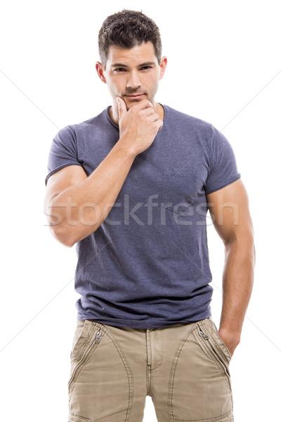 Handsome man thinking Stock photo © iko