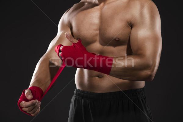 Man practicing body combat Stock photo © iko
