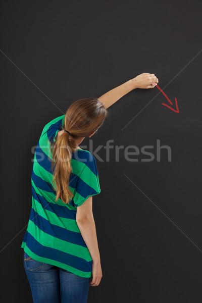 Writing on a chalkboard Stock photo © iko
