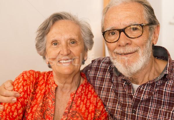 老夫婦 肖像 レストラン 良い 時間 食品 ストックフォト © iko
