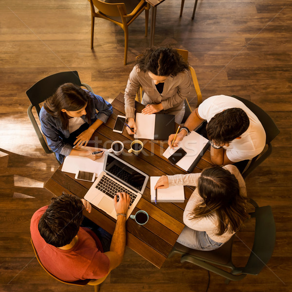 It's always better studying on group Stock photo © iko