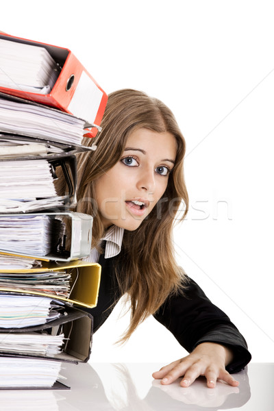Business Woman Over-Worked Stock photo © iko