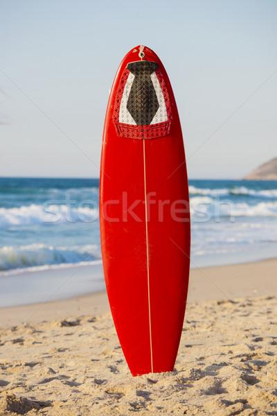 красный доска для серфинга песок красивой спорт Сток-фото © iko