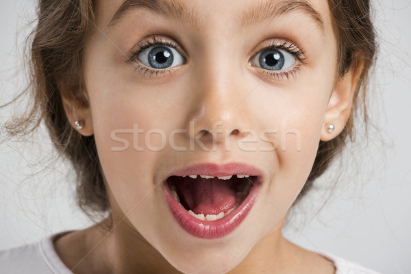 Surprised girl Stock photo © iko