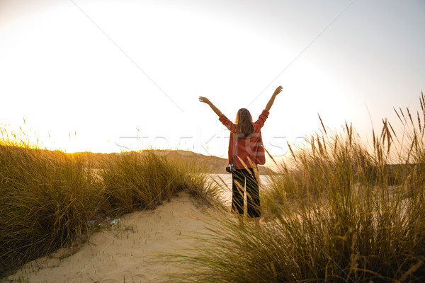 Woman on the beach Stock photo © iko
