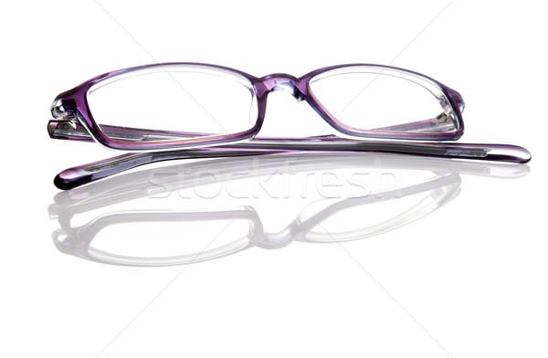 Szemüveg izolált fehér tükröződés divat egészség Stock fotó © iko