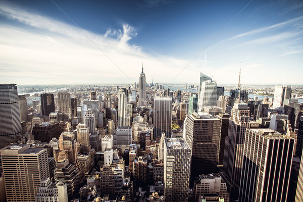 Top view of New York City Stock photo © iko
