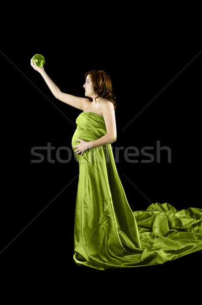 Pregnant woman trying to guess... Stock photo © iko