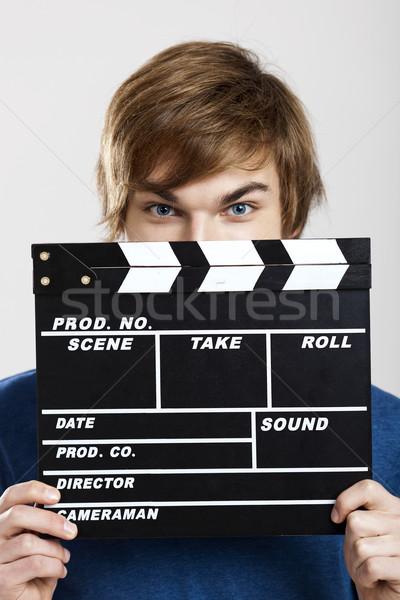 Showing a clapboard Stock photo © iko