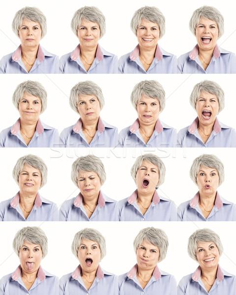 Multipla collage diverso espressioni faccia Foto d'archivio © iko