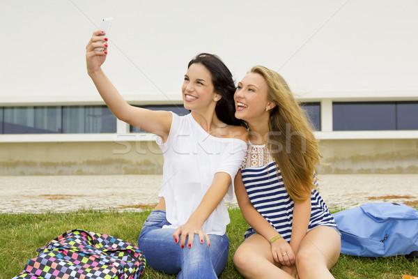 Selfies in the school Stock photo © iko