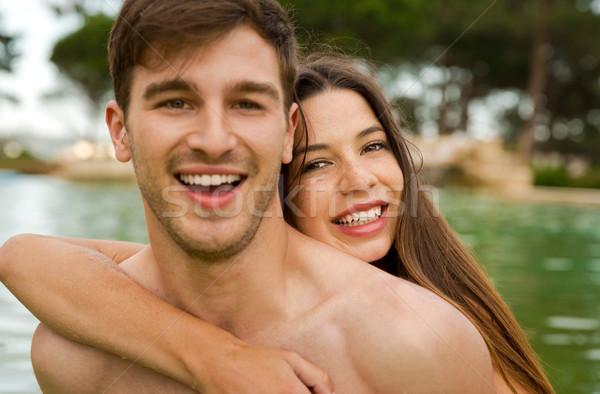 Young couple having fun Stock photo © iko
