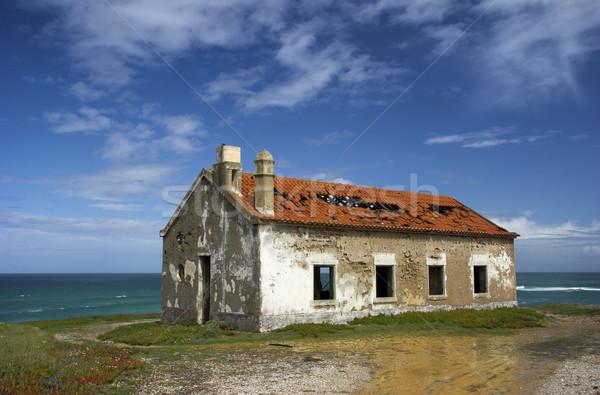 красивой заброшенный дома сцена старые тесные Сток-фото © iko