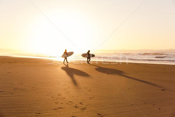 пляж красивой готовый небе закат Сток-фото © iko