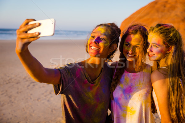 Making a colorfull selfie Stock photo © iko