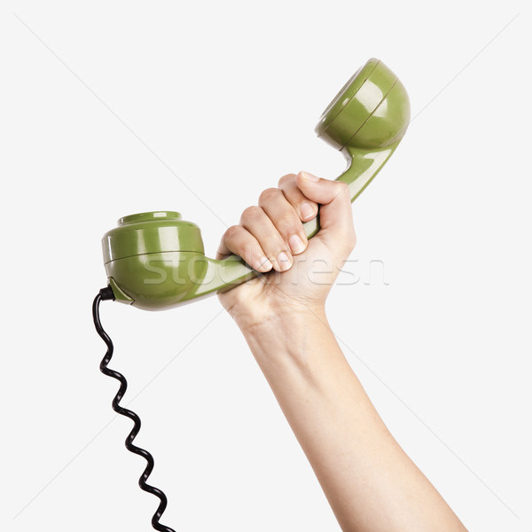 Vintage telephone Stock photo © iko
