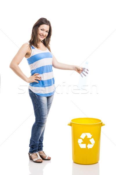 Beautiful young recycling Stock photo © iko