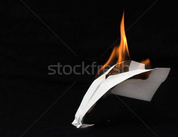 Paper airplane in flames  Stock photo © iko