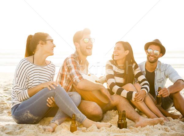 лучший лет друзей вместе пляж Сток-фото © iko