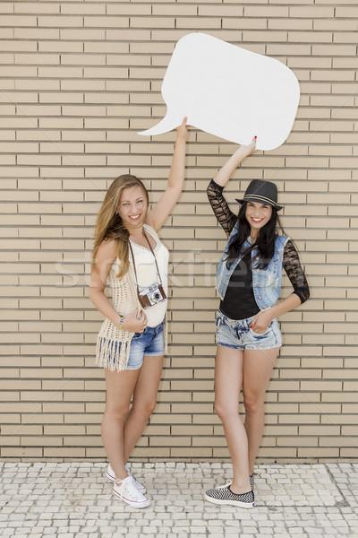 Teenage friends Stock photo © iko