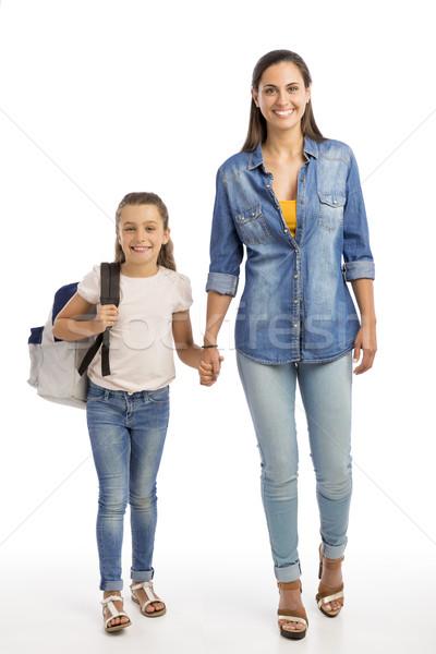 Сток-фото: первый · день · школы · матери · мало