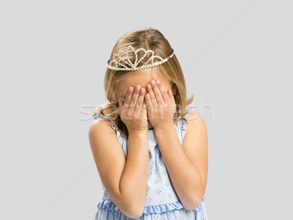 Shy principessa ritratto cute bambina indossare Foto d'archivio © iko