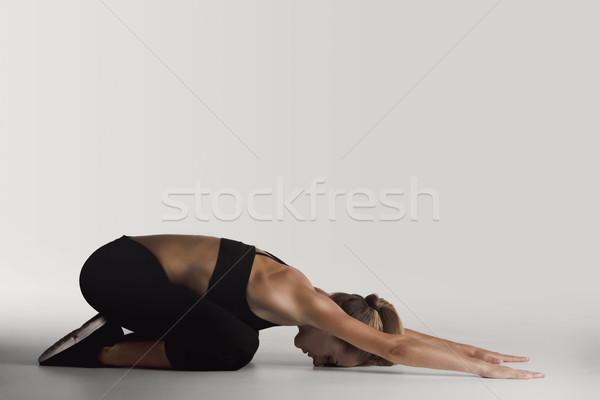 Stok fotoğraf: Atış · genç · kadın · kadın · kız · spor