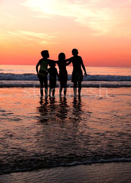 Childrens on the beach Stock photo © iko