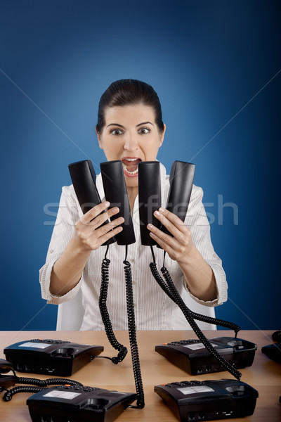 Stressful work Stock photo © iko
