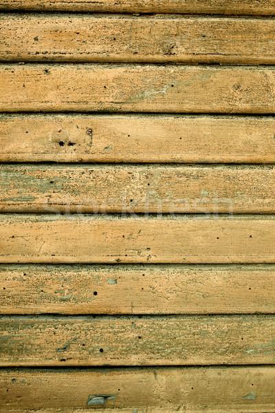 Photos vieux jaune bois construction Photo stock © iko