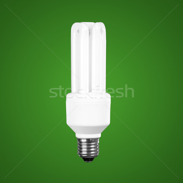 Fluorescencyjny żarówka zielone świetle technologii niebieski Zdjęcia stock © iko