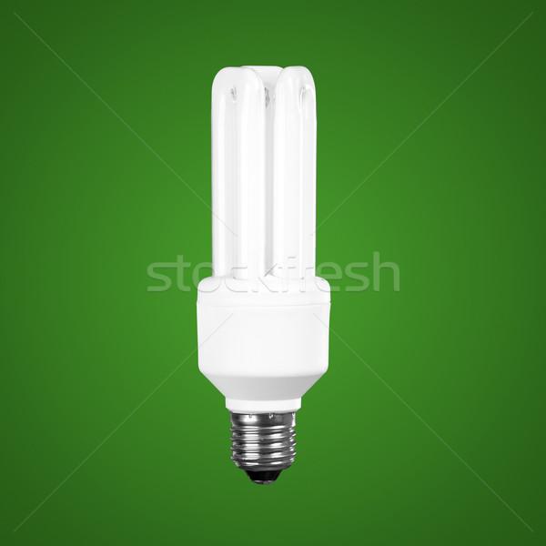 Tl gloeilamp groene licht technologie Blauw Stockfoto © iko