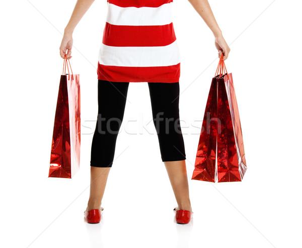 女性 ショッピングバッグ 美しい 幸せ 若い女性 ストックフォト © iko